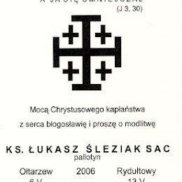 ks. Śleziak Łukasz - Ołtarzew, święcenia 6.05.2006