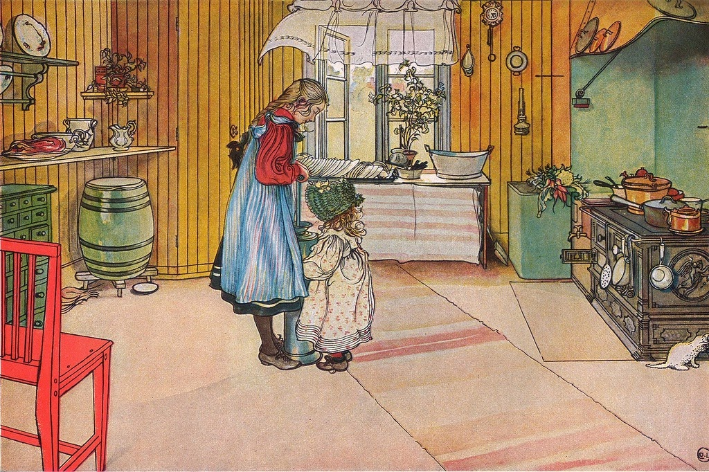 Carl Larsson - Köket (The Kitchen), 1898