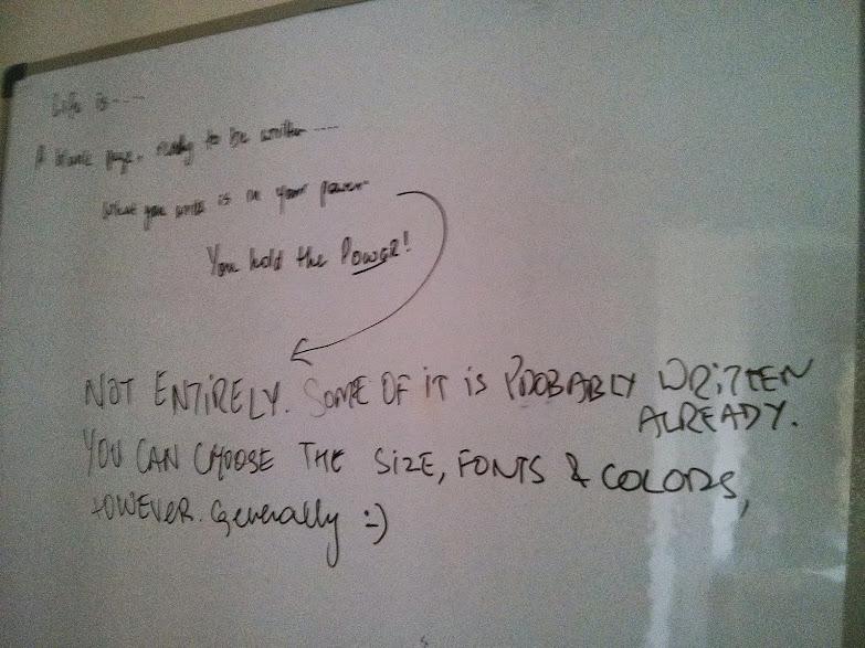Writings on the wall - Life