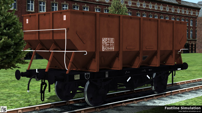 Fastline Simulation: dia. 1/146 21t HTV Coal Hopper Wagon Pack