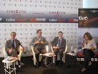 """Conferenza Stampa """"Reason Wine"""", 4 settembre 2011 - Lido di Venezia, Claudio Galletti, Beppe Fiorello, Michele Pisante, Laura Delli Colli"""