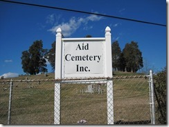 Aid Cemetery sign_Aid Lawrence OH
