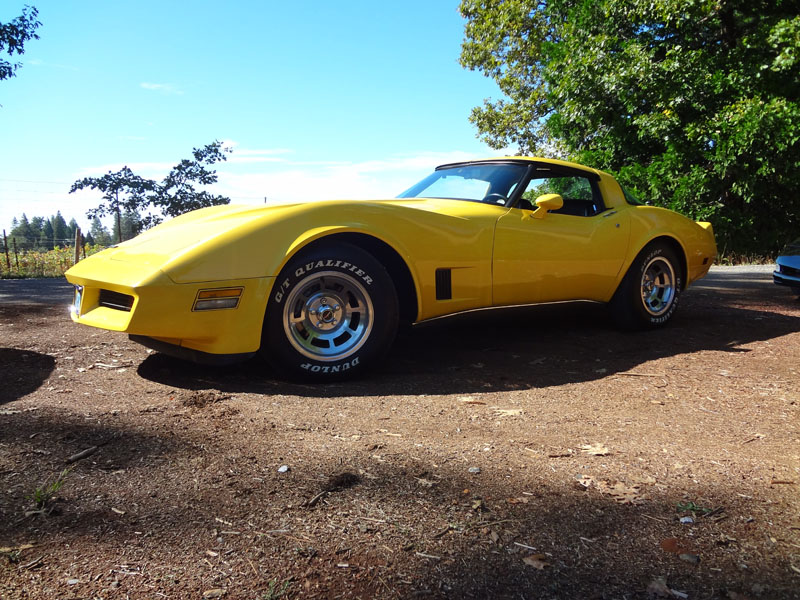 Yellow 1980 Corvette