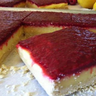 Lemon Rasberry Bars - gluten free, dairy free, soy free.