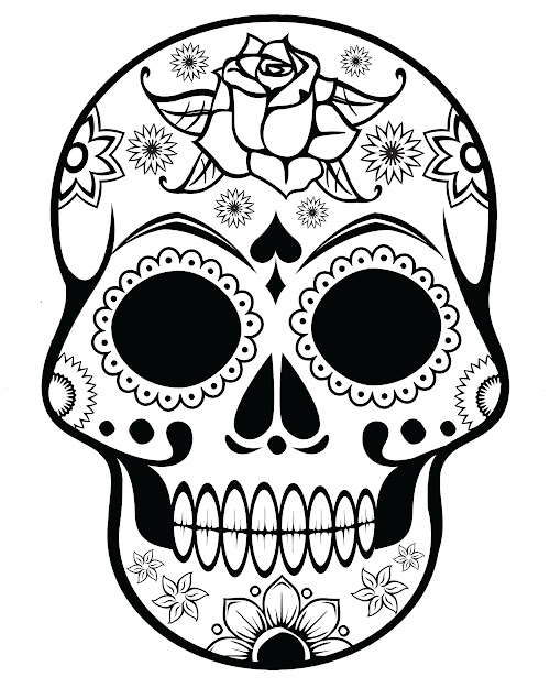 Free Printable Halloween Coloring Pages For Adults  Sugar Skull With  Ornate Flowers More