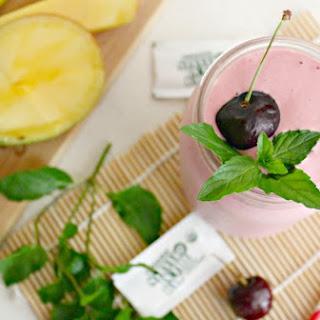 Black Cherry Smoothie with Stevia and Greek Yogurt.