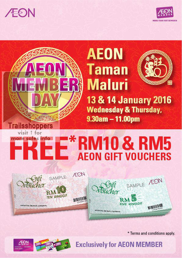 AEON Taman Maluri for the AEON Member Day 2016
