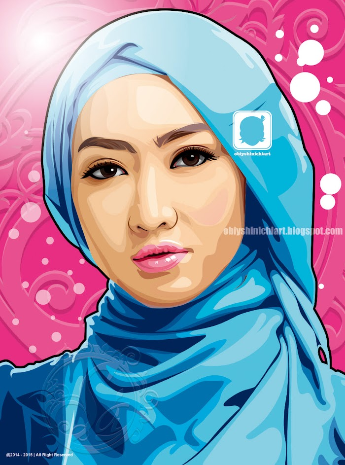 Hijab cantik in vector by obiy shinichi art