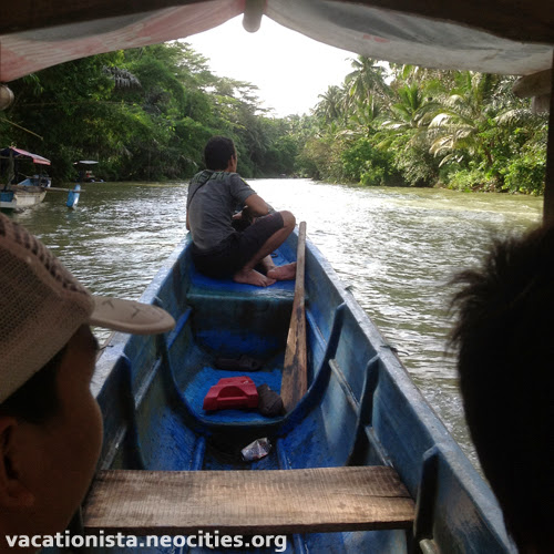 Travelling through a river