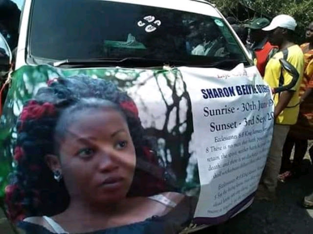 Photos: Emotions Run high as Sharon otieno body leaves mortuary for burial tomorrow