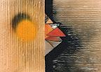 063 - Entre deux Murs - 1994 89 x 65 - Acrylique et huile sur toile marouflée sur bois
