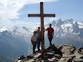 Stu, Steve & Andy on the Jegihorn (3206m) Saas Grund, Switzerland 2004