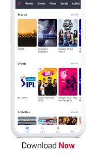 BookMyShow – Movies, Events & Sports Match Tickets App Download For Android and iPhone 5