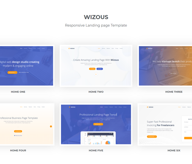 Wizous - Bootstrap 5 Landing page Template - 1