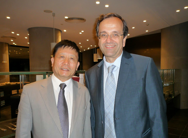 6.18.2009 with Antonis Samaras (The Minister of Culture, Greece).jpg