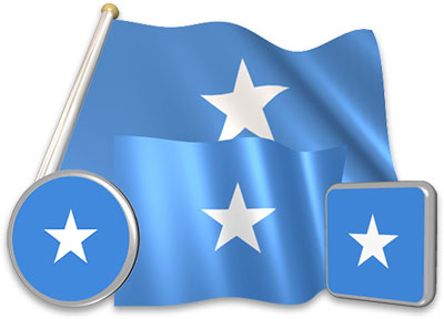 Somali flag animated gif collection
