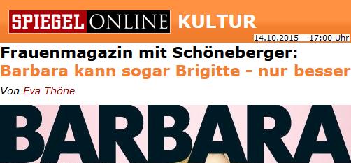 Barbara kann sogar Brigitte - nur besser
