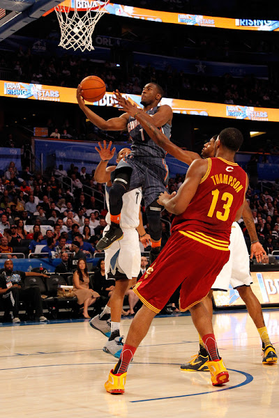 Wearing Brons Tristan Thompson in Soldier V Cavs PE BBVA Rising Stars Challenge