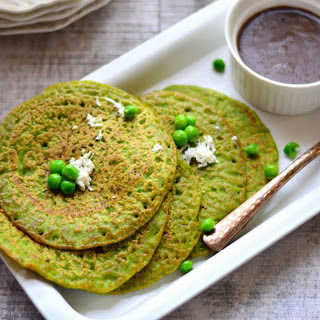 Green Pea Pancake Recipe (Matar Ka Cheela)
