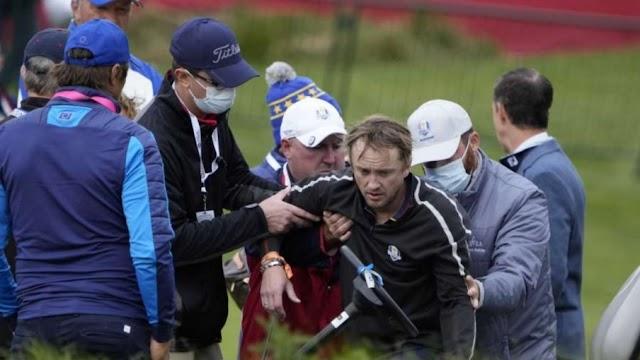 Tom Felton o Draco Malfoy de Harry Potter entra em colapso durante partida de Golfe e necessita de atendimento médico