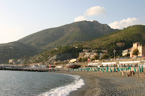 Levanto and beach on the sea
