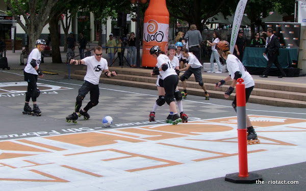 roller soccer in garema place