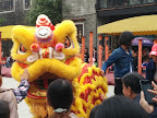 Lion dance at Fatsan ancestral temple.
