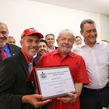 Lula recebe o t�tulo de cidadão de Juazeiro (Bahia)