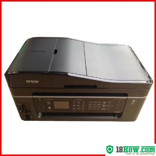 How to reset flashing lights for Epson PX-602F printer