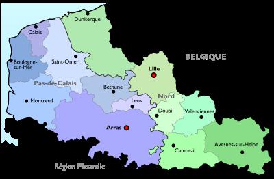 Départements du nord