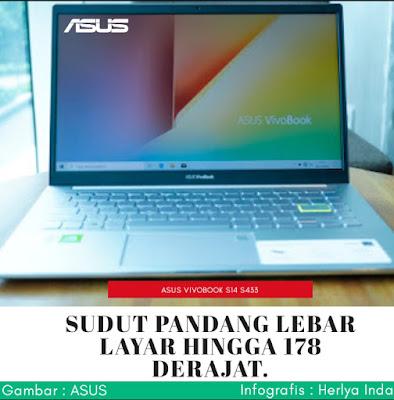 Sudut pandang layar ASUS Vivobook S14 S433