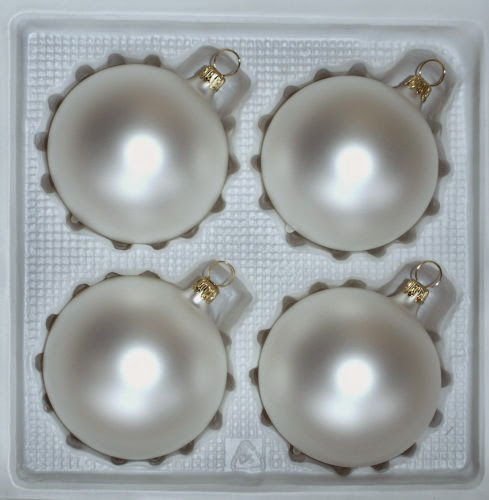 Kaemingk 4-er Set Weihnachtskugel aus Glas in Gold//Glanz 10 cm Christbaumkugeln Baumkugeln Christbaumschmuck gl/änzend