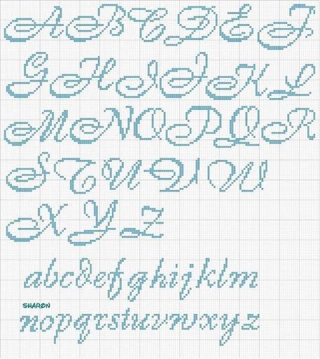 Punto croce che passione alfabeto h 22 for Ricamo punto croce lettere