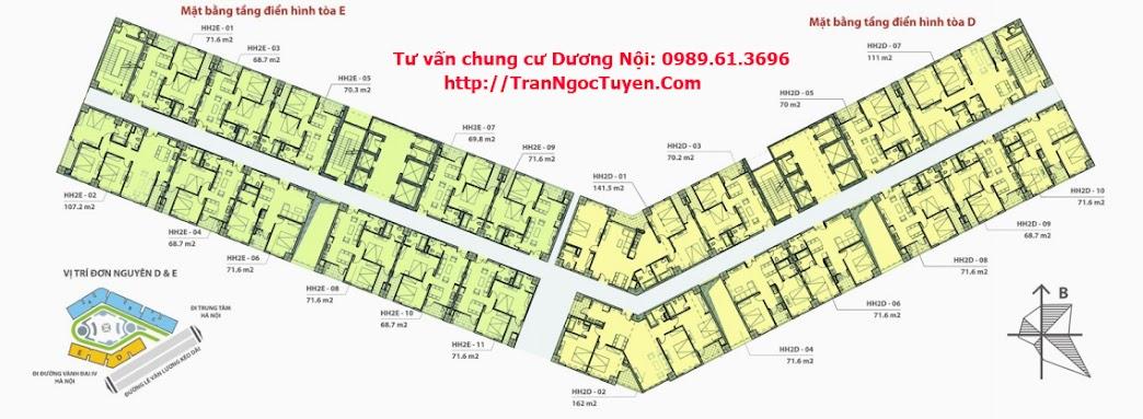 Cho thuê chung cư Dương Nội HH2
