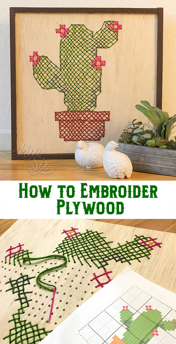 How to embroidery plywood