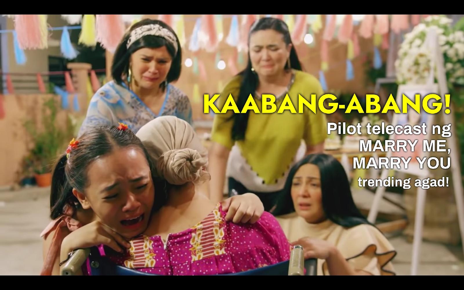 """KAABANG-ABANG! Pilot telecast ng """"Marry Me, Marry You"""", trending agad!"""