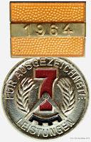 126d-64 Medaille für ausgezeichnete Leistungen 1964 www.ddrmedailles.nl