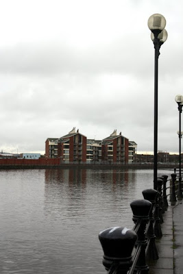 River Lagan in Belfast in Northern Ireland