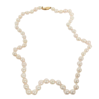 Pearl and 14K Gold Necklace 1