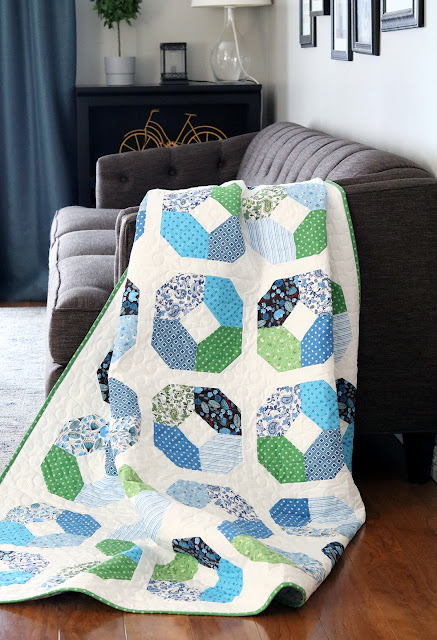 Layer Cake Lucy quilt pattern by Andy of A Bright Corner