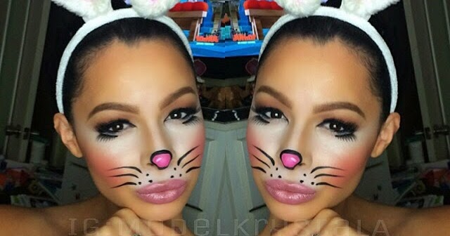 Krystal Allen Beauty: Halloween 2014: Cute Bunny Makeup