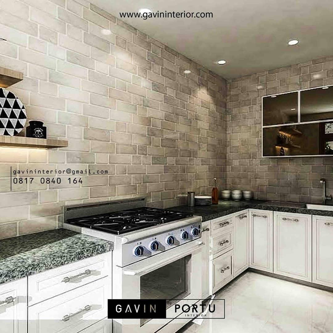 furniture dapur cantik batu alam