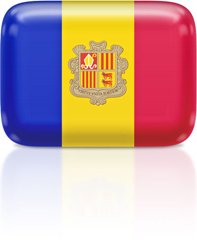 Andorran flag clipart rectangular