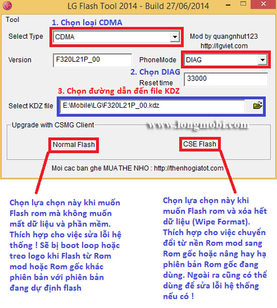 2 Cách chạy lại phần mềm máy LG Androi