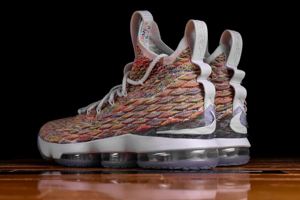 da9241436cb ... Release Reminder Nike LeBron 15 Fruity Pebbles ...