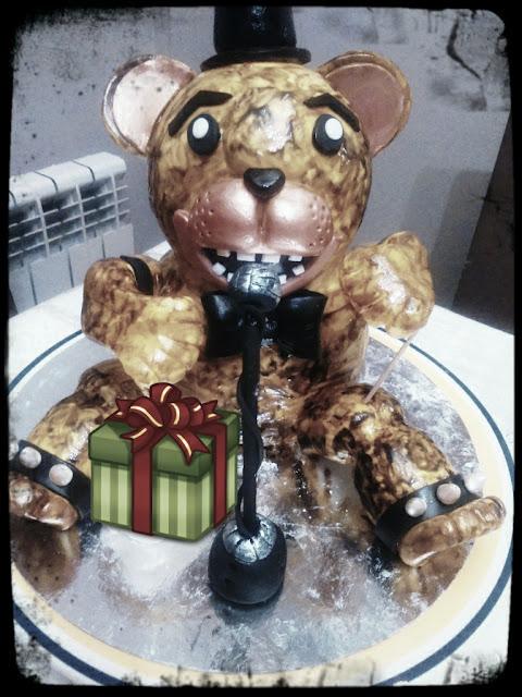 tarta freddy, golden freddy, fnaf cake