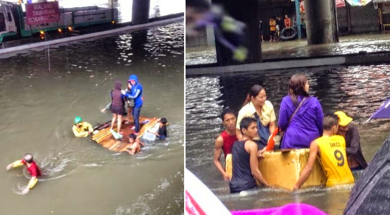 Mario Causes Flooding in Metro Manila with Pictures 19-09-2014-04