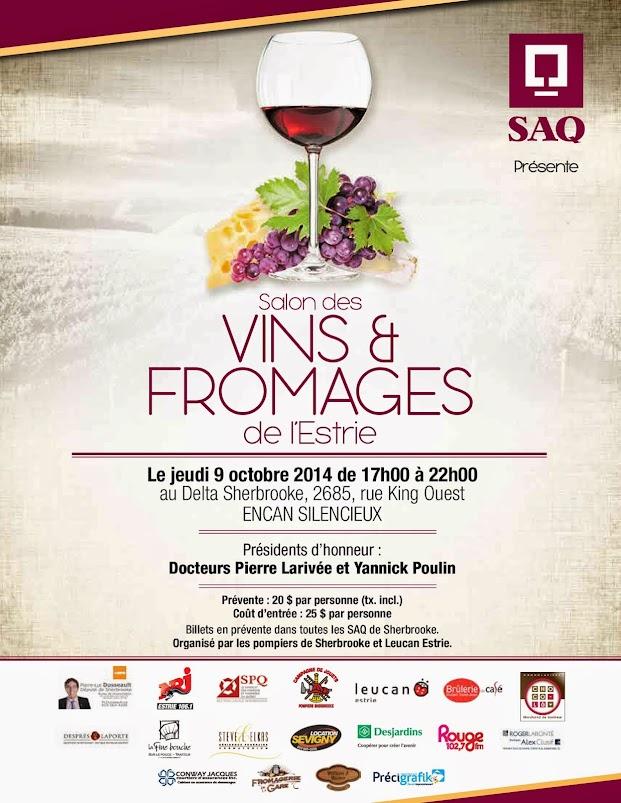Salon des vins et fromages de l 39 estrie syndicat des for Calendrier salon des vins