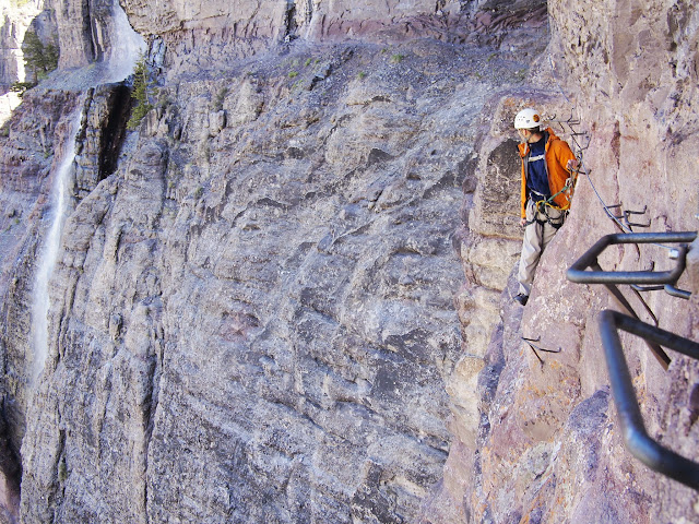 The main event section of the Telluride Via Ferrata