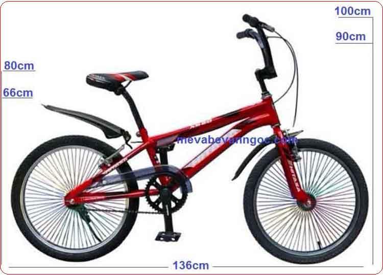 Xe đạp trẻ em Hiphop Hitasa 500 nan hoa màu